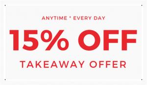 takeaway discount