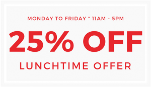 lunchtime discount